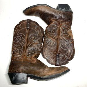 Ariat Womens Heritage R Toe Cowboy Boots Brown